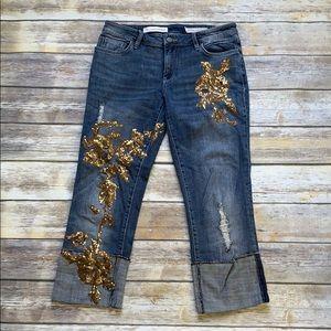 Pilcro Hyphen Embellished Jeans Anthropologie